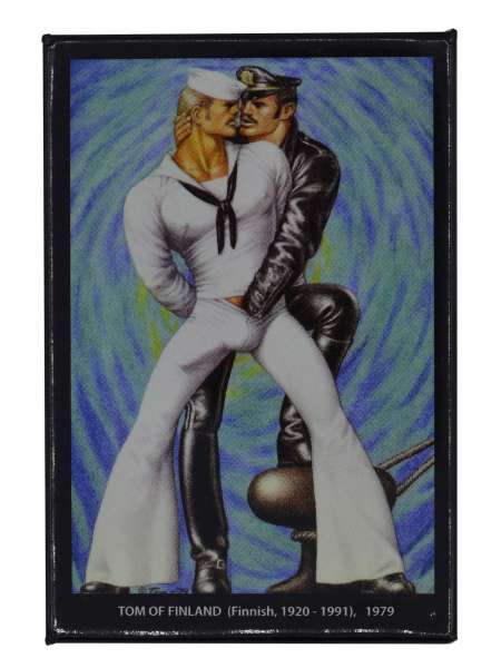 Tom of Finland Magnet Psychedelic Blue